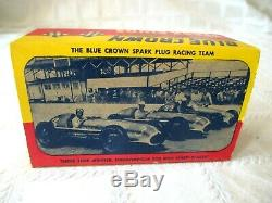 Vintage Blue Crown Spark Plugs- Full New Old Stock Box- Indy 500 Winner-sign