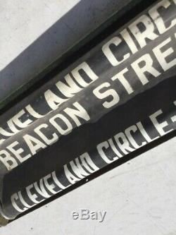 Vintage Boston Elevated Railway MTA PCC Trolley Street Car Sign Box & Roll Sign