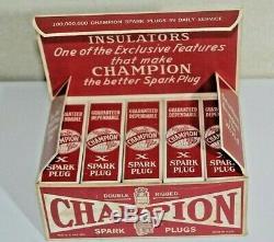Vintage Champion X Ford MODEL T 1/2 Inch Spark Plugs FULL BOX OF 10 NIB
