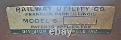 Vintage Chicago Transit Cta Train Car Roll Sign Box Pullman Standard 2000-Series