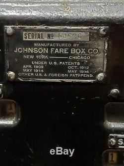 Vintage Collectible Johnson Fare Box Nyc Bus Tokens Coin Ny Transit History Item