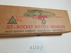 Vintage Delta Jet Rocket Bicycle Headlite & Reflectors NOS in Original Box