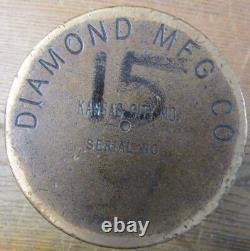 Vintage Diamond Mfg Brass Fare Box Money Vault Cylindrical 9 X 4-3/4 X 4-3/4