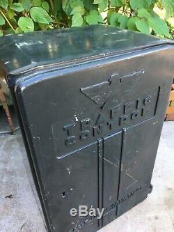 Vintage Eagle Signal Traffic Light Control Heavy Cast Box Davenport Iowa