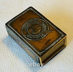 Vintage Indian Motorcycle Copper Color Match Holder Box Hendee Power Plus Motor
