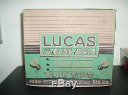 Vintage Lucas point of sale box of 12 N. 10 bulbs 6V. 12W