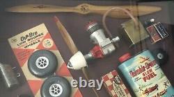 Vintage Model Aviation Memorabilia Shadow Box