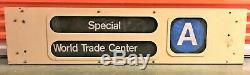 Vintage New York Subway Roll Signs in Box R40 Times Square World Trade Center