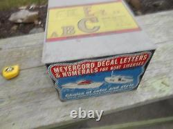 Vintage Original MEYERCORD Boat Decal Sign Case Box Advertising Outboard NEAT