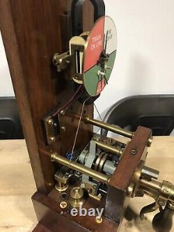 Vintage Railway Signal Box Block Instrument Clear Line Indicator