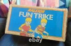 Vintage Raleigh Little Trike Totally Original And Boxed In Original Box