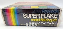 Vintage Sealed CAL CUSTOM Metal Flaking Kit Spray Paint withChopper Box Graphics