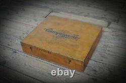 Vintage Stunning Campagnolo Trade Shop Wooden Box + NOS Spares VERY RARE Eroica