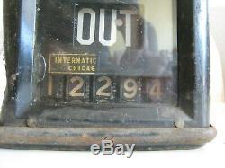 Vintage Trolley Car Fare Box Counter International Fare Register