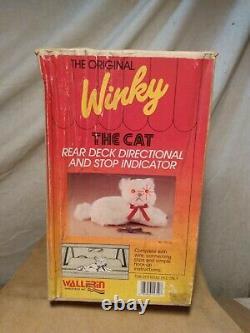 Vintage Winky The Cat Rear Window Deck Turn Brake Light Wallfrin With Box
