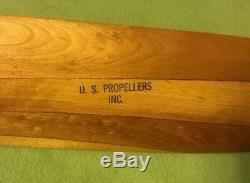 Vintage Wood Propeller U. S. Propellers Inc 22008-1 WWII NOS. Org Box