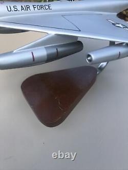 Vtg B-58 Hustler Desktop Model Wood Pacific Aircraft Rare Vtg HTF USAF Box