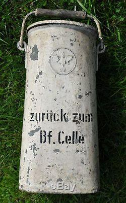 WWII Germany 3rd Reich Era German Railroad Railway Train Milk Canister Can Box