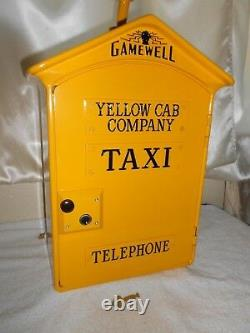YELLOW CAB TAXI Call Box Telephone Phone Stand Station Car Driver Gamewell