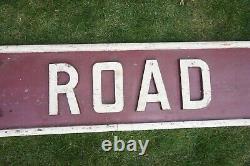 York Road Huge Original Railway Signal Box Wooden Sign Railwayana